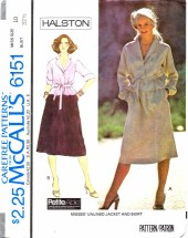 McCall's 6151 Halston Jacket and Skirt Size 10 - Bust 32 1/2