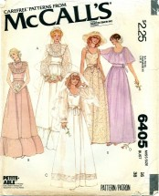 McCall's 6405 Sewing Pattern Bridal Dress Wedding GownSize 16