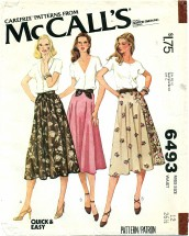 McCall's 6493 Set of Skirts Size 12