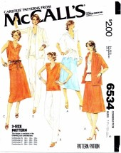 McCall's 6534 Jacket Top Skirt Pants Size 16 1/2 - 20 1/2 - Bust 39 - 43