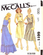 McCall's 6611 Yoked Pullover Sundress Size 10 - 12 - Bust 32 1/2 - 34