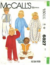 McCall's 6827 Toddlers Nightgown Pajamas Vest Size 4