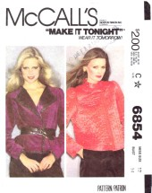 McCall's 6854 Misses Jacket Size 12 - Bust 34