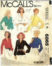 McCall's 6865 Misses Blouse Size 10