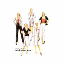 1980s Saint-Tropez West Jacket Skirt Pants Shorts McCalls 7066 Vintage Sewing Pattern Size 12 Bust 34