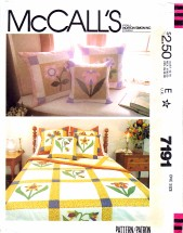 McCall's 7191 Sewing Pattern Quilt Pillow Covers