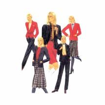 1980s Jacket Skirt Pants Shorts McCalls 7197 Vintage Sewing Pattern Size 12 Bust 34