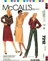McCall's 7212 Top Skirt Pants Size 10 - 12