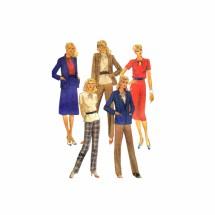 1980s Misses Jacket Top Skirt Pants McCalls 7215 Vintage Sewing Pattern Size 12 Bust 34