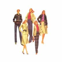 1980s Misses Jacket Skirt Pants McCalls 7255 Vintage Sewing Pattern Size 10 Bust 32 1/2