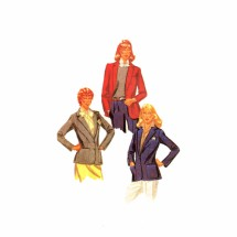 1980s Misses Jacket Palmer & Pletsch McCalls 7263 Vintage Sewing Pattern Size 12 Bust 34