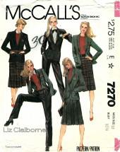 McCall's 7270 LIZ CLAIBORNE Jacket Skirt Pants Size 10