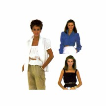 1980s Blouse and Camisole McCalls 7499 Vintage Sewing Pattern Size 12 Bust 34