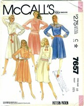 McCall's 7657 Misses Dress Top Skirt Size 10