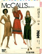 McCall's 7691 Misses Dress or Jumper Size 12
