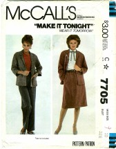 McCall's 7705 Misses Jacket Skirt Pants Size 10