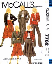 McCall's 7762 Sewing Pattern Liz Claiborne Jacket Skirt Pants Suit Size 12 - Bust 34