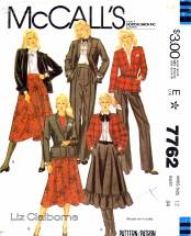 McCall's 7762 Sewing Pattern Liz Claiborne Jacket Skirt Pants Suit Size 12 - Bust 34