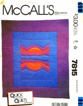 McCall's 7815 Sewing Pattern Sunset Quilt