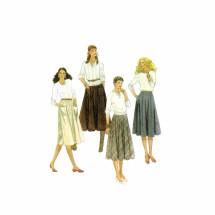 1980s Junior Teens Skirts McCalls 7841 Vintage Sewing Pattern Size 7 - 8 Waist 23