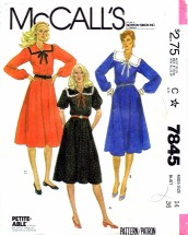 McCall's 7845 Sewing Pattern Flared Pullover Dress Size 14 - Bust 36