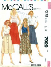 McCall's 7929 Misses Skirts Size 10 - 12