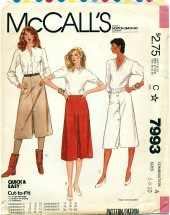 McCall's 7993 Misses Skirts Size 6 - 10