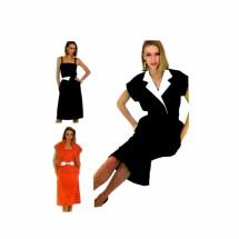 1980s Misses Jacket Camisole Skirt Tie Belt McCalls 8059 Vintage Sewing Pattern Size 16