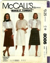 McCall's 8086 Misses Skirts Size 10 - 14