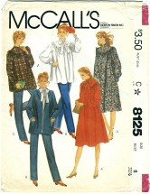 McCall's 8125 Misses Maternity Jacket Dress Top Pants Neck Tie Size 8