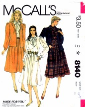 McCall's 8140 Sewing Pattern Jacket Blouse Skirt Size 14 - Bust 36