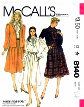 McCall's 8140 Sewing Pattern Jacket Blouse Skirt Size 16 - Bust 38