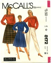 McCall's 8172 Skirt Top Pants Size 16
