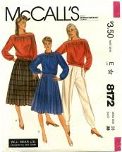 McCall's 8172 Skirt Top Pants Size 16