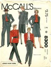 McCall's 8300 JONES NEW YORK Jacket Skirt Pants Size 10