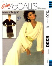 McCall's 8330 Pullover Dress Size 6 - 8 - Bust 30 1/2 - 31 1/2