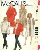 McCall's 8331 Maternity Jacket Jumper Dress Top Pants Size 14