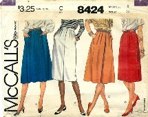 McCall's 8424 Misses Skirts Size 8
