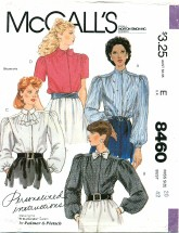 McCall's 8460 PALMER & PLETSCH Blouses Size 20
