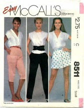 McCall's 8511 Pants Shorts Knee Pants Size 10 - 12