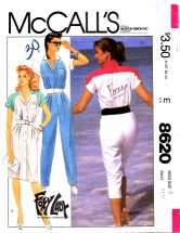 McCall's 8620 Foxy Lady Dress and Jumpsuit Size 8 - Bust 31 1/2
