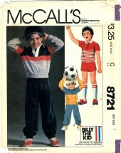 McCall's 8721 Boys Top Pants Shorts Size 6