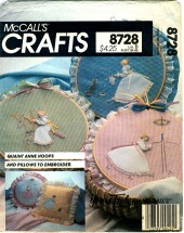 McCall's 8728 Crafts Quaint Ann Hoops and Pillows
