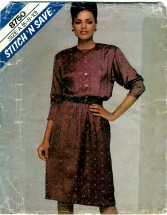 McCall's 8750 Misses Pullover Dress Size 6 - 10