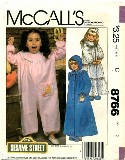 McCall's 8766  SESAME STREET Nightgown Jumpsuit Robe Size 2