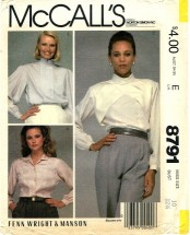 McCall's 8791 FENN WRIGHT & MANSON Misses Blouse Size 10