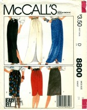 McCall's 8800 Misses Wrap Skirts Size 8