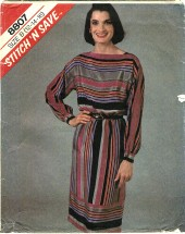 McCall's 8807 Misses Pullover Dress Size 12 - 16