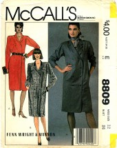 McCall's 8809 Misses Coat-Dress Size 12