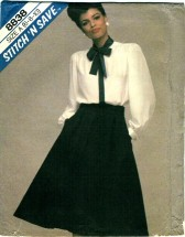 McCall's 8838 Misses Blouse & Skirt Size 6 - 10